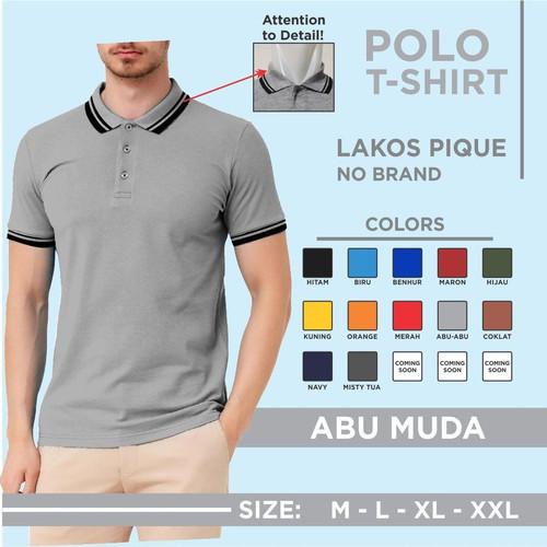 Foto Produk Kaos polo polos pria / Kaos kerah seragam - Merah, M dari Noveli lacos