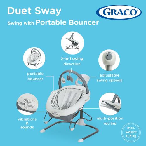 Foto Produk Graco Duet Sway LX Baby Swing with Portable Bouncer / Ayunan Graco - holt dari LemariAnakku