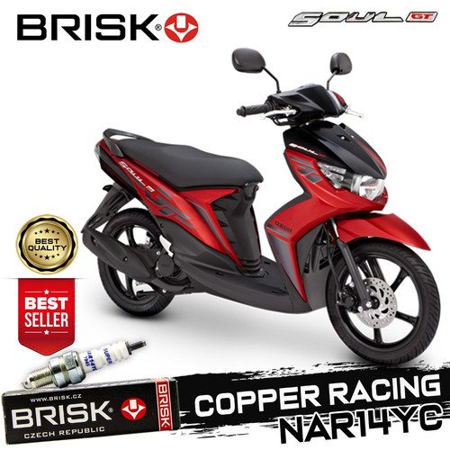 Foto Produk Busi BRISK Cooper RACING tipe NAR14YC Yamaha Soul Gt dari GMA Product Series