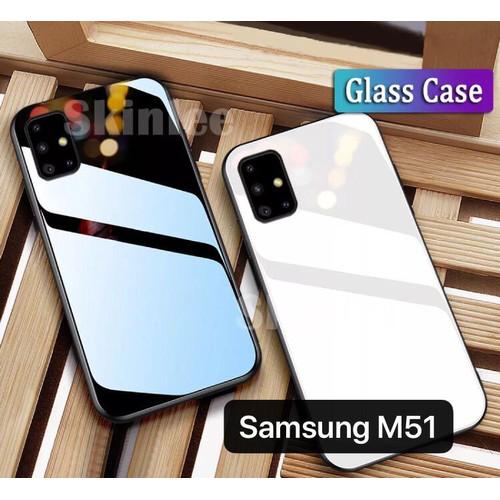 Foto Produk CASE SAMSUNG M51 GLASS TEMPERED COVER CASING HANDPHONE dari Channel Cell Jakarta