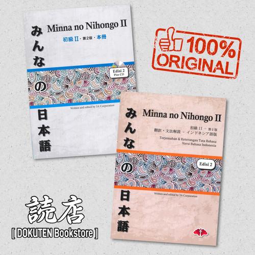 Foto Produk PAKET Minna No Nihongo II Edisi 2 ORI (Shokyu II, Terjemahan II, CD) dari Dokuten Bookstore