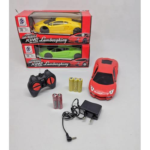 Foto Produk RC Mobil Lamborghini 1/24 | Mainan Anak Mobil Remote Control Charger - Merah dari EAZYTOYS