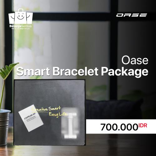 Foto Produk OASE SPESIAL GIFT BOX HEADSET BLUETOOTH + BRACELET LP 1 SMART WATCH dari belanjasemuastore