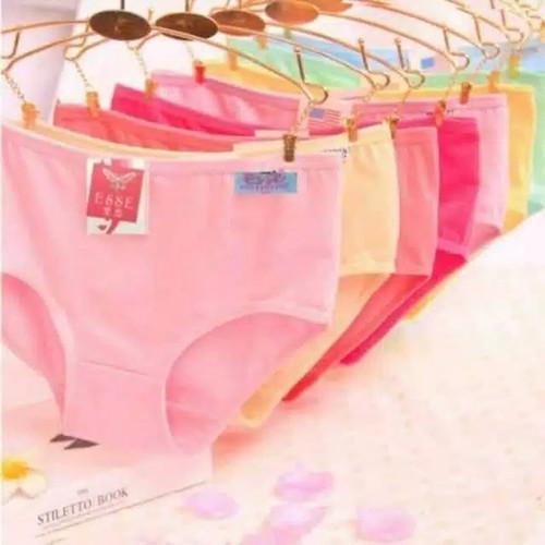Foto Produk 12 PCS celana dalam wanita remaja-dewasa polos M-XXXL - M dari borneo accecories