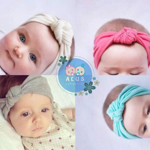 Foto Produk Headband Baby Newborn | Anak Perempuan | simpul ikat | - Putih, 0 - 3 tahun dari alus Collection