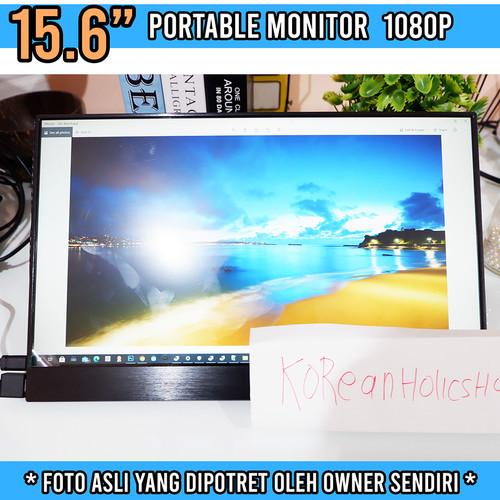 Foto Produk Portable Monitor 15.6 Inch LCD USB-C HDMI   FHD 1080p HDR BONUS CASE dari Koreanholicshop