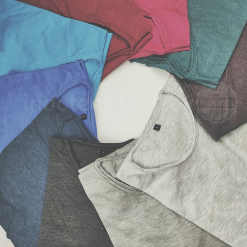 Foto Produk Unfinished Raw Twotone Misty Tshirt // Soft & Light Cotton // kaos dari Indo Tees Factory