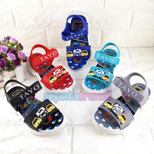 Foto Produk Sandal Gunung Anak Laki Bus Tayo Sol Karet Ukuran 32-34 (Random Warna) dari Sepatu Trendi