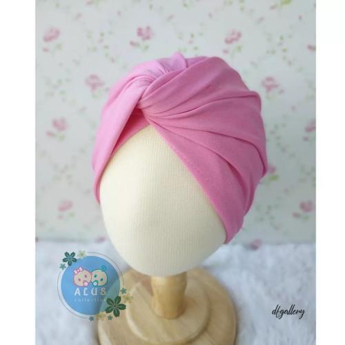Foto Produk TURBAN SALSA | turban silang | Turban Anak | Turban Bayi | Turban Anak - pink dari alus Collection