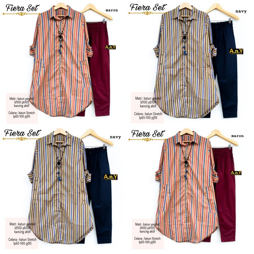 Foto Produk New Fiera Set Setelan Celana Wanita Baju Kerja Modis Casual LD 100cm dari Ilyassa Shop