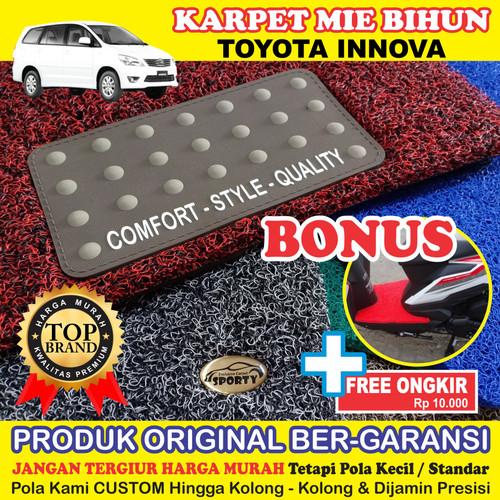 Foto Produk Karpet Mobil Mie Bihun INNOVA OLD Non Bagasi - Bahan 1 Warna dari KARPET MOBIL SPORTY