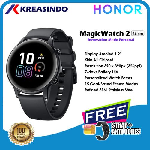 Foto Produk Huawei Honor Magic Watch 2 42mm Smartwatch Amoled Garansi resmi - Aluminium Black dari Kreasindo Online