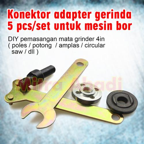 Foto Produk Konektor Adapter Gerinda for Mesin Bor 1 SET = 5 PCS dari Toko Mitra Abadi
