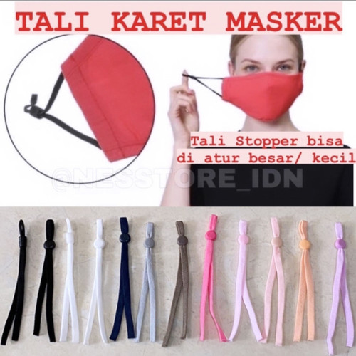 Foto Produk STOPPER TALI/ TALI KARET MASKER/ TALI KARET ELASTIS/ TALI MASKER dari nesstore.idn