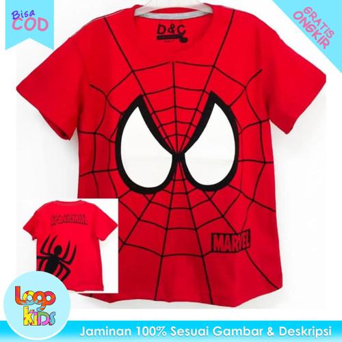 Foto Produk Baju / Kaos Anak Murah Lengan Pendek Logokids Spiderman Eye 1-10 Tahun - 1 tahun dari logokids