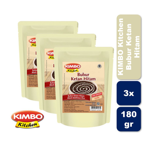 Foto Produk Kimbo Kitchen Ketan Hitam Triple Pack dari KIMBO