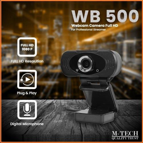 Foto Produk Webcam M-TECH WB500 ORIGINAL Web Camera 1080P Full HD dari Finel Computer Bintaro