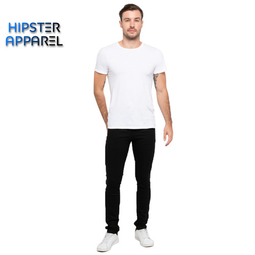 Foto Produk Hipster celana jeans warna hitam pekat - Hitam, XS dari Hipster Official