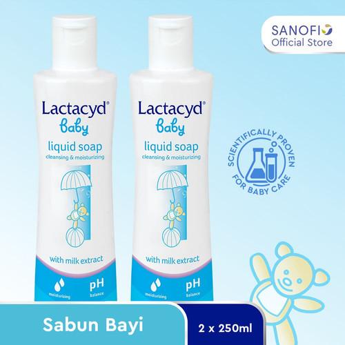 Foto Produk Lactacyd Baby Liquid Soap 1 Month Value Pack (2 pcs 250 ml) dari Sanofi Official Store