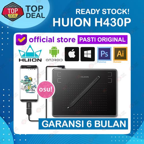 Foto Produk Huion H430P Graphic Drawing Tablet OSU Alternatif H420 H640P HS64 - Tanpa Glove dari Top Deal