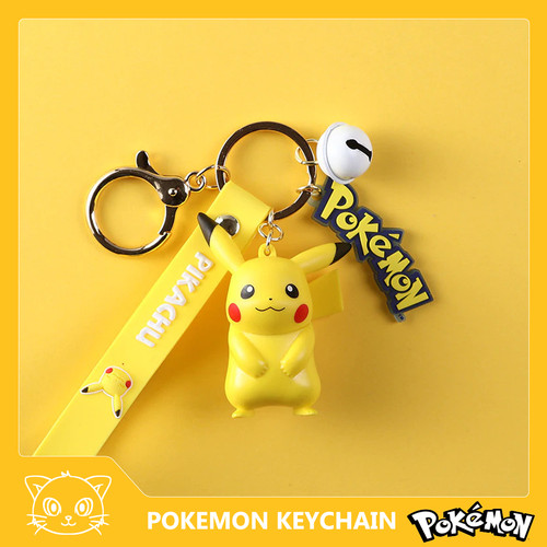 Foto Produk Licensed Pokemon Keychain Gantungan Kunci Action Figure Ganci - pikachu dari miugameshop