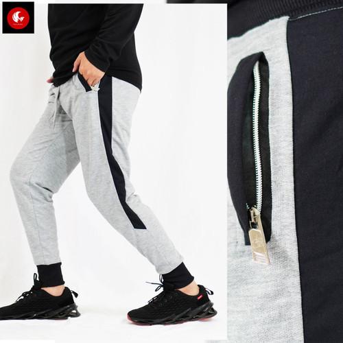 Foto Produk Kurt Celana Panjang Training Olahraga Pria Jogger Pants Okechuku - Abu muda, XL fit to XXL dari Okechuku