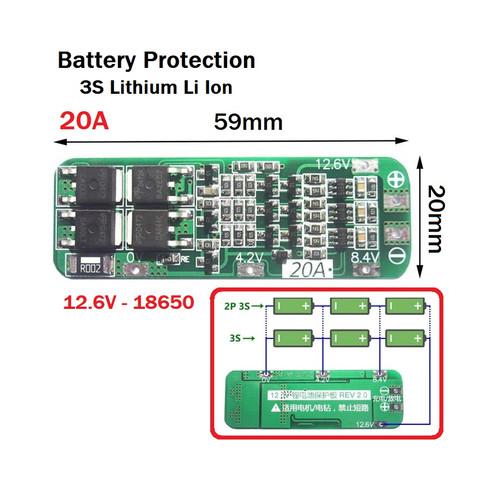Foto Produk modul BMS 3S 20A Li-Ion Lithium battery 18650 charger protection board dari alexabrahama