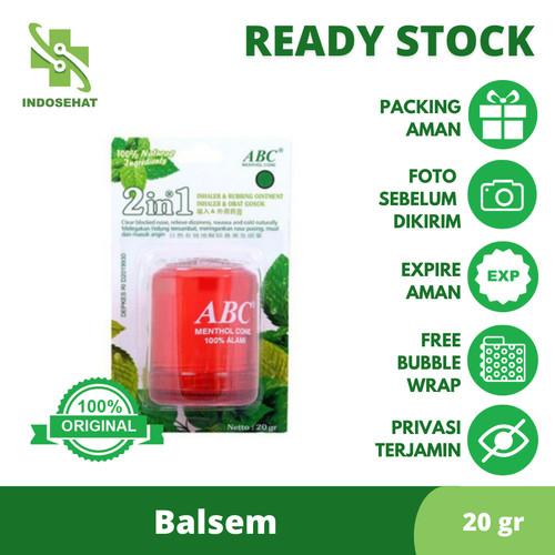Foto Produk ABC Menthol Cone Besar 20 gram Warna Merah dari Toko Obat IndoSehat