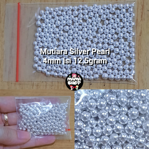 Foto Produk Sprinkle Mutiara Silver Warna Warni Spikel Trimit Gula Hiasan Kue dari mama shop
