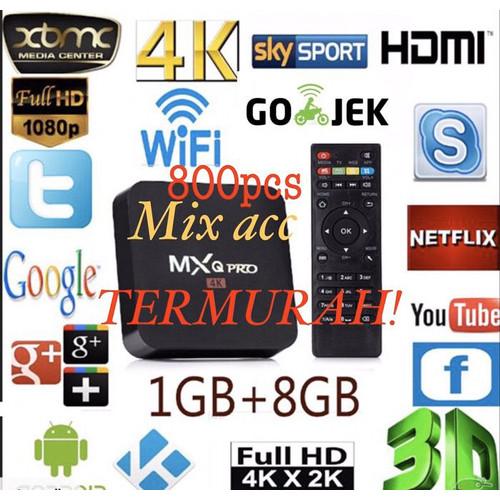 Foto Produk TV Box Android Smart MXQ 4K RK3229 1G/8G H.264/H.265 dari Mix acc88