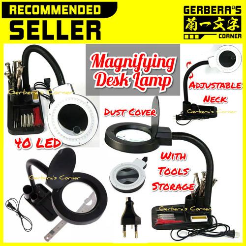 Foto Produk Magnifying Desk Lamp 40 LED Working Lamp + Magnifier Magnifier Lamp dari Gerbera's Corner