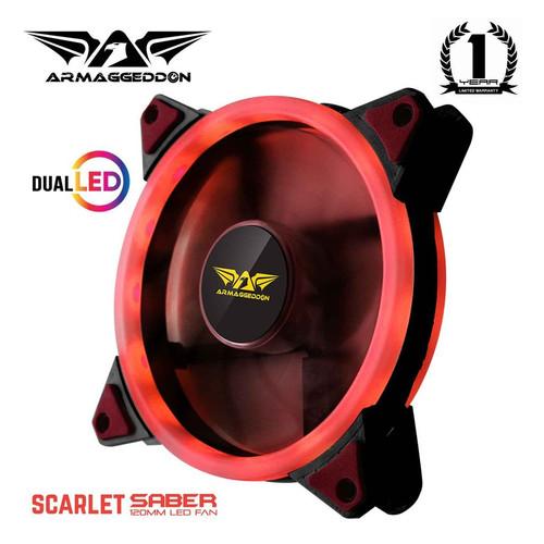 Foto Produk Armaggeddon Scarlet Dual Saber Cooling Fan Gaming PC Case (120mm) dari Armaggeddon Official