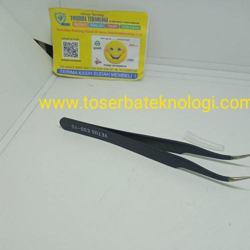 Foto Produk Pinset Tweezer Vetus HRC40 ESD-15 Hitam Panjang 122mm dari Toserba Teknologi Official