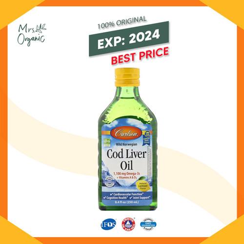 Foto Produk Carlson Labs, Wild Norwegian, Cod Liver Oil, Natural Lemon,250ml dari Mrs Organic