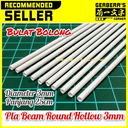 Foto Produk Plastic Beam Round Hollow 3mm Pla Beam Plastic Plate Custom Model Kit dari Gerbera's Corner