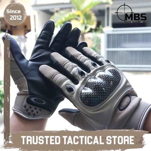 Foto Produk Tactical O Gloves with Knuckle Sarung Tangan Tactical Full Fingers - Black, M dari MBS Tactical Store