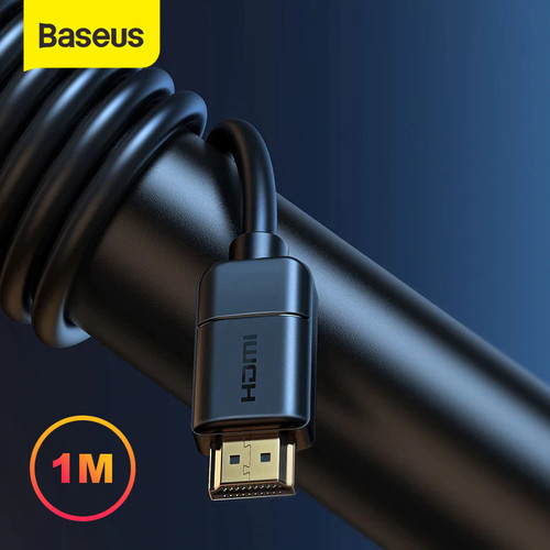 Foto Produk BASEUS KABEL HDMI TO HDMI 4K HD TO 4K HD ADAPTER CABLE KABEL HDR - Hitam, 1M dari Baseus Official Store