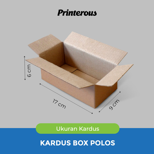 Foto Produk Corrugated Box - Kardus Box Polos 17x9x6 cm dari Printerous