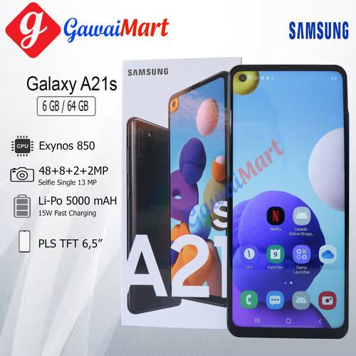 Foto Produk SAMSUNG GALAXY A21s 6/64GB RAM 6GB ROM 64GB GARANSI RESMI - Hitam dari Gawai Mart