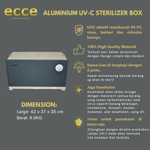 Foto Produk ECCE Aluminium UVC Sterilizer Box Membunuh Virus dan Bakteri (LARGE) dari Eccecollection