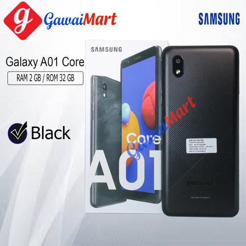 Foto Produk SAMSUNG GALAXY A01 CORE 2/32 RAM 2GB ROM 32GB GARANSI RESMI - Hitam dari Gawai Mart