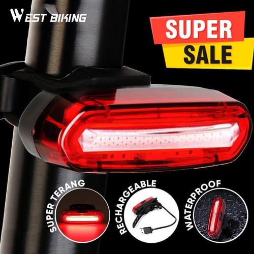 Foto Produk Lampu Sepeda Belakang LED Rechargeable West Biking Lampu Belakang dari West Biking Indonesia