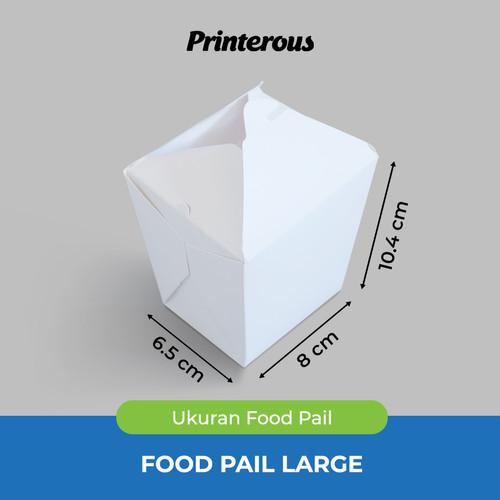 Foto Produk Paper Food Pail Large / Kotak Makan Kertas Besar dari Printerous