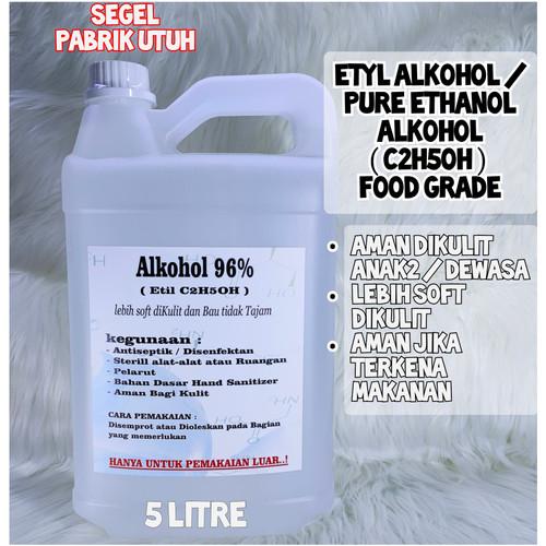 Foto Produk Alkohol Ethanol Food Grade, Ethyl Alcohol, Ethyl C2H5OH - Kadar 96 dari Kimia Store..!