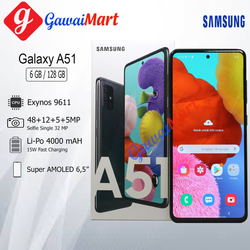 Foto Produk SAMSUNG GALAXY A51 6/128GB GARANSI RESMI - Hitam dari Gawai Mart