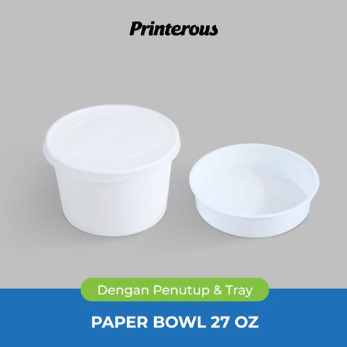 Foto Produk Paper Bowl / Mangkok Kertas 27 oz (800 ml) + Lid/Tutup + Inner/Tray dari Printerous