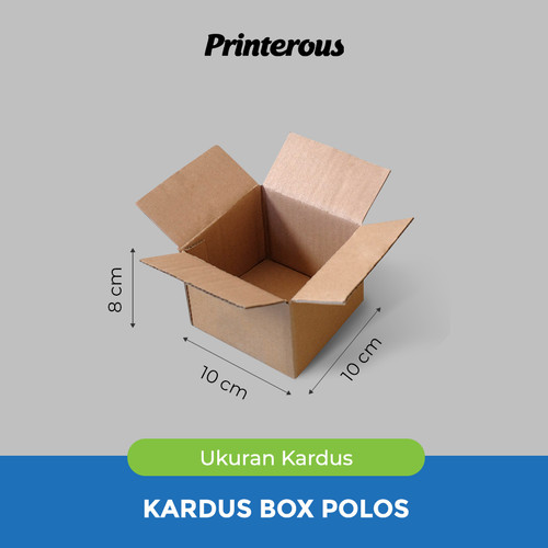 Foto Produk Corrugated Box - Kardus Box Polos 10x10x8 cm dari Printerous