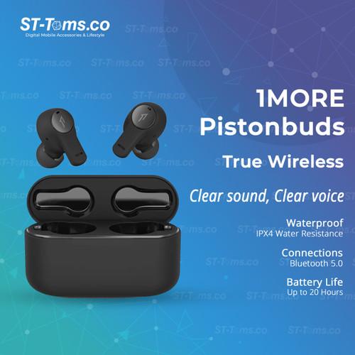 Foto Produk 1MORE Pistonbuds True Wireless IN-Ear Headphone - Hitam dari ST-Toms.co