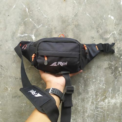 Foto Produk waistbag pria rei pinggang / tas selempang - Hitam dari rizalbag