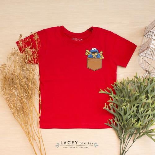 Foto Produk Kaos Anak dan Dewasa Cookie Monster Tee Lacey Atelier - M 3-4tahun dari LACEY atelier